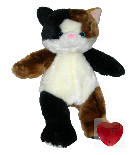 Plush Animal Calico Cat - 15 Inch