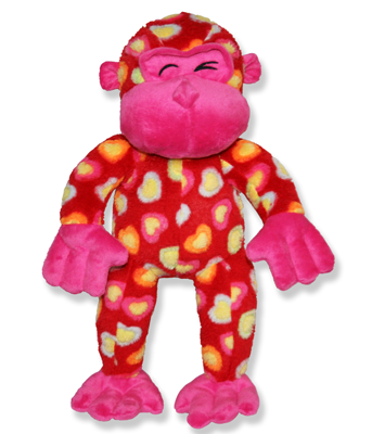 Pink Heart Gorilla Plush Animal - 15 Inch