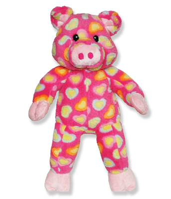Pink Heart Pig Plush Animal - 15 Inch