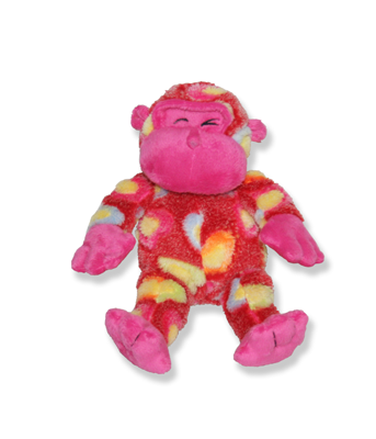 Pink Gorilla Plush Animal - 8 Inch