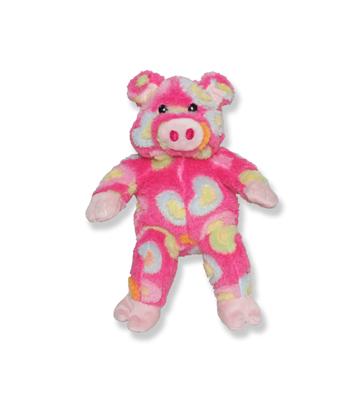 Pink Heart Pig Plush Animal - 8 Inch