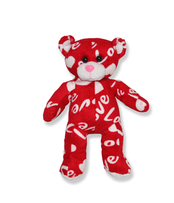 Red Love Plush Teddy Bear - 8 Inch