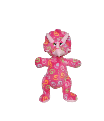 Pink Triceratops Plush Animal - Mini