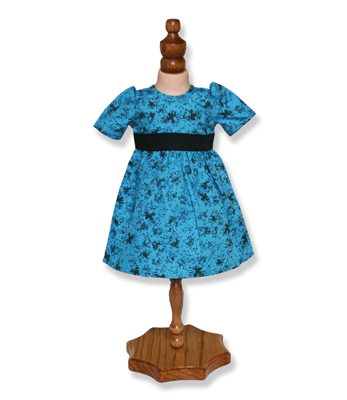 Blue Doll Dance Dress - Fits 18 inch Doll