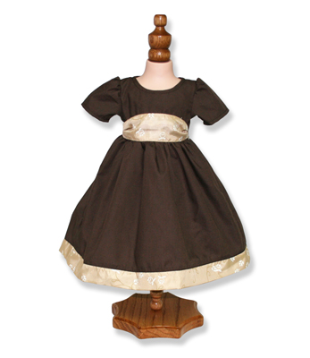 Brown Party Dress - Fits 18 inch Doll
