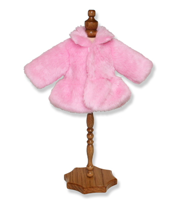Pink Faux Fur Jacket - Fits 18 inch Doll