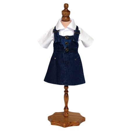 Denim Pinafore Dress - Fits 18 inch Doll