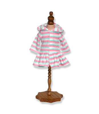 Stripe Hoodie Doll Dress - Fits 18 inch Doll