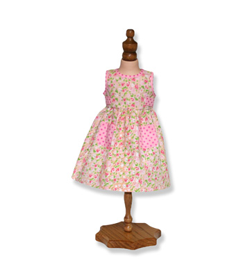 Pink Floral Summer Dress - Fits 18 inch Doll