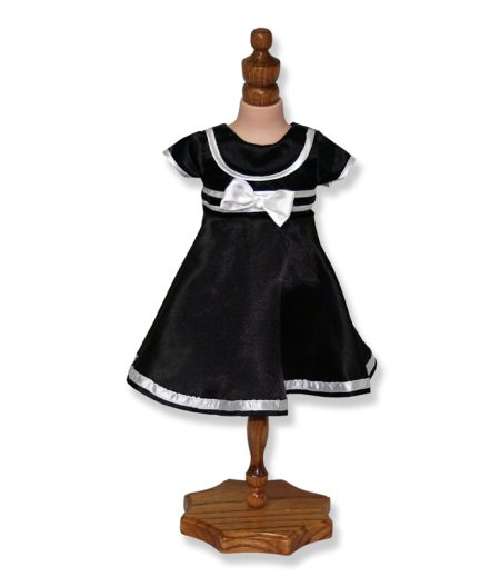 Black Dress with Satin Trim - Fits 18 inch Doll