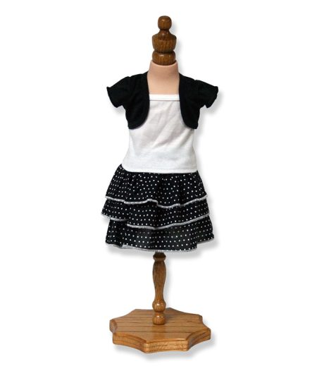 Black and White Dress with Jacket - Fits 18 inch Doll
