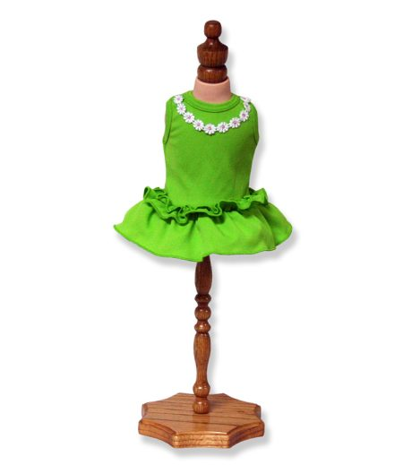 Green Dress with Frill - Fits 18 inch Doll