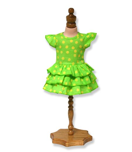 Green Tiered Dress - Fits 18 inch Doll