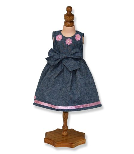 Grey Party Doll Dress - Fits 18 inch Doll