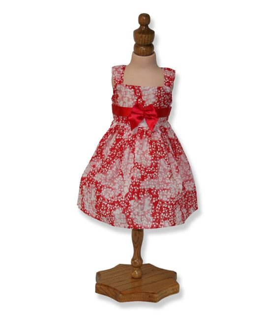 Red Floral Summer Doll - Fits 18 inch Doll