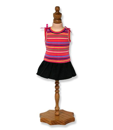Multicolored Stripe Doll Top - Fits 18 inch Doll