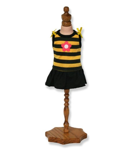 Yellow Stripe Doll Top and Skirt - Fits 18 inch Doll