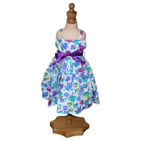 Floral Watercolor Doll Dress - Fits 18 inch Doll