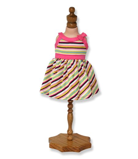 Multicolored Strip Dress - Fits 18 inch Doll
