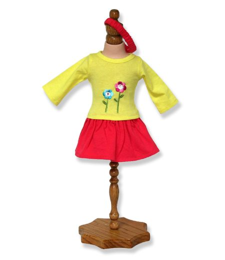 Yellow Doll and Pink Skirt - Fits 18 inch Doll