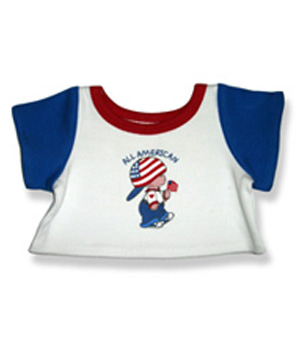 All American T Shirt - Fits 15 Inch Plush Animal