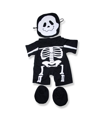Skeleton Costume - Fits 15 Inch Plush Animal