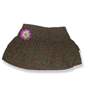 Brown Floral Skirt - Fits 15 Inch Plush Animal