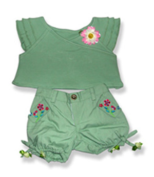 Girl Summer Pants on Top - Fits 15 Inch Plush Animal