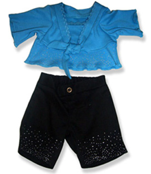 Blue Top and Black Pants - Fits 15 Inch Plush Animal