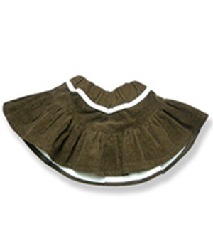 Brown Cord Skirt - Fits 15 Inch Plush Animal