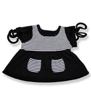 Black Top with White Stripes - Fits 15 Inch Plush Animal
