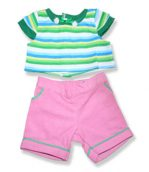 Stripe Top Pink Pants - Fits 15 Inch Plush Animal