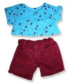 Blue Top Ruby Pants - Fits 15 Inch Plush Animal