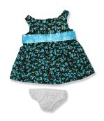 Blue Floral Dress - Fits 15 Inch Plush Animal