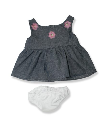 Grey Party Dress - Fits 15 Inch Plush Animal