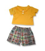 Yellow Top Stripe Pants - Fits 15 Inch Plush Animal