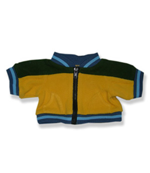 Yellow and Black Fleece Jacket - Fits 15 Inch Plush Animal