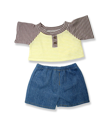 Boys Jeans and Stripe Top - Fits 15 Inch Plush Animal
